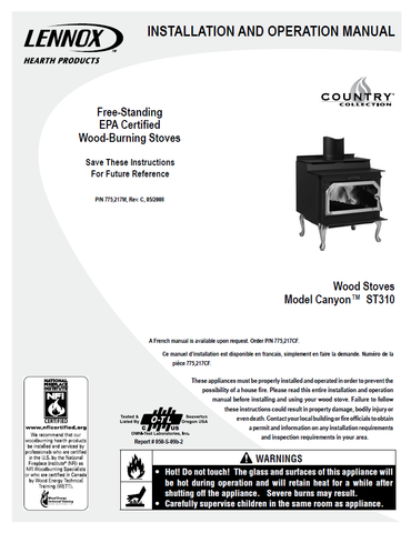 Country Canyon ST310 User Manual - Wood_LCST310