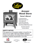 Lopi Awnser FS User Manual - Wood_LAFSWS