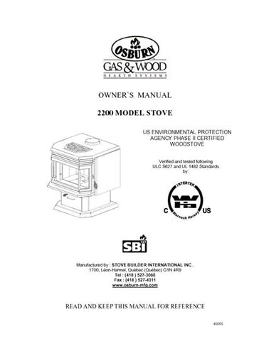 Osburn 2200 User Manual - Wood_OS2200