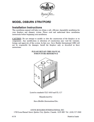 Osburn Stratford User Manual - Wood_OSWS-Own