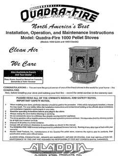 Quadrafire 1000 User Manual