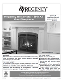 Regency Bellavista B41XT User Manual - Gas_RGB41XT