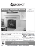 Regency Bellavista B36XT User Manual - Gas_RGB36XT