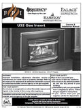 FPI/Regency/Hampton/Palace U32 Insert User Manual - Gas_U32