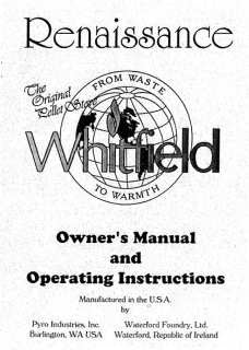 Whitfield Renaissance & Waterford Erin User Manual