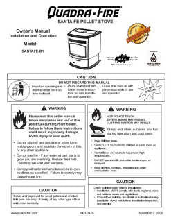 Quadrafire Santa Fe User Manual - Pellet_QFSantafe