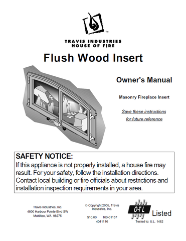 Travis Industries Flush Insert User Manual - Wood_TIFWI
