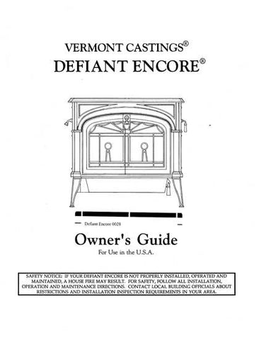 Vermont Castings Defiant Encore 0028 User Manual - Wood_VCDEFEN0028