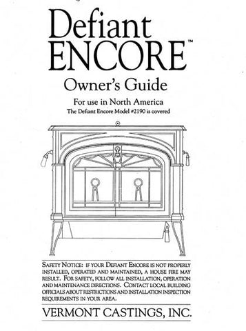 Vermont Castings Defiant Encore 2190 User Manual - Wood_VCDEFEN2190