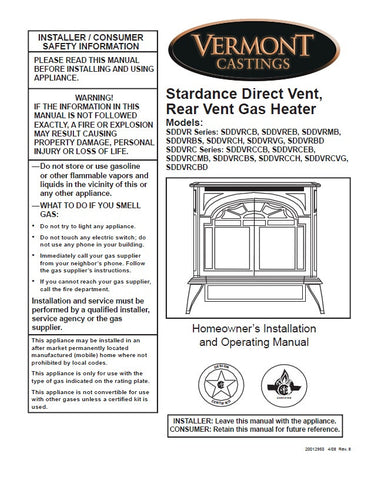 Vermont Castings Stardance DV User Manual -Pellet_SDDVR