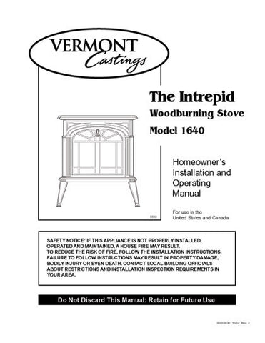 Vermont Castings Intrepid 1640 User Manual - Wood_VCintrepid