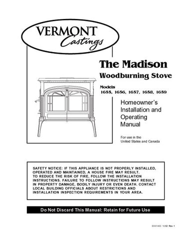 Vermont Castings Madison 1955-59 User Manual - Wood_VCmadison