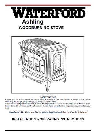 Waterford Ashling User Manual - Wood_WFAsh