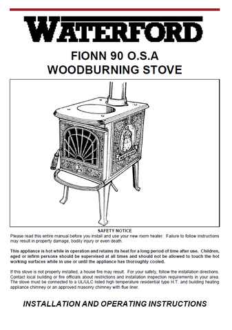 Waterford Fionn 90 O.S.A. User Manual - Wood_WFF90OSA