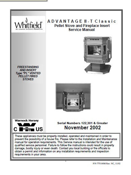 Whitfield Advantage Ii T Classic Tech Manual Pellet