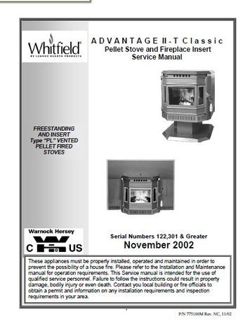 Whitfield Advantage II-T Classic Tech Manual - Pellet_WIITCSM