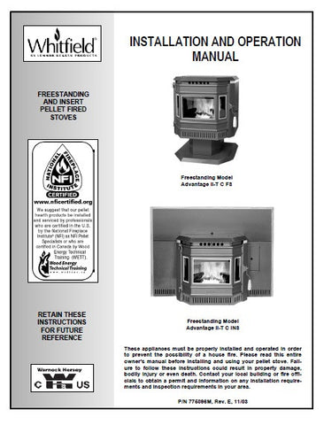 Whitfield Advantage II-T Classic User Manual - Pellet_WIITCUM
