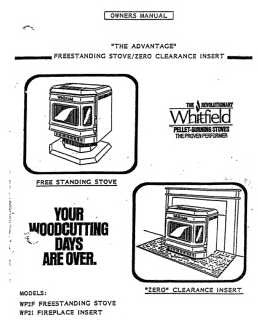 Whitfield Advantage I User Manual - Pellet_wa1