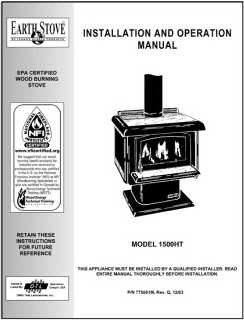 Earth Stove 1500HT User Manual - Wood_1500ht