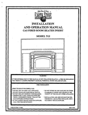 Earth Stove TGI User Manual - Gas_ESTGI