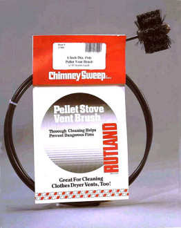 "4"" Pellet Stove Brush w/10' Flex. Handle_17410"
