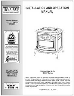 Traditions T300P User Manual - Pellet stove also known as P11