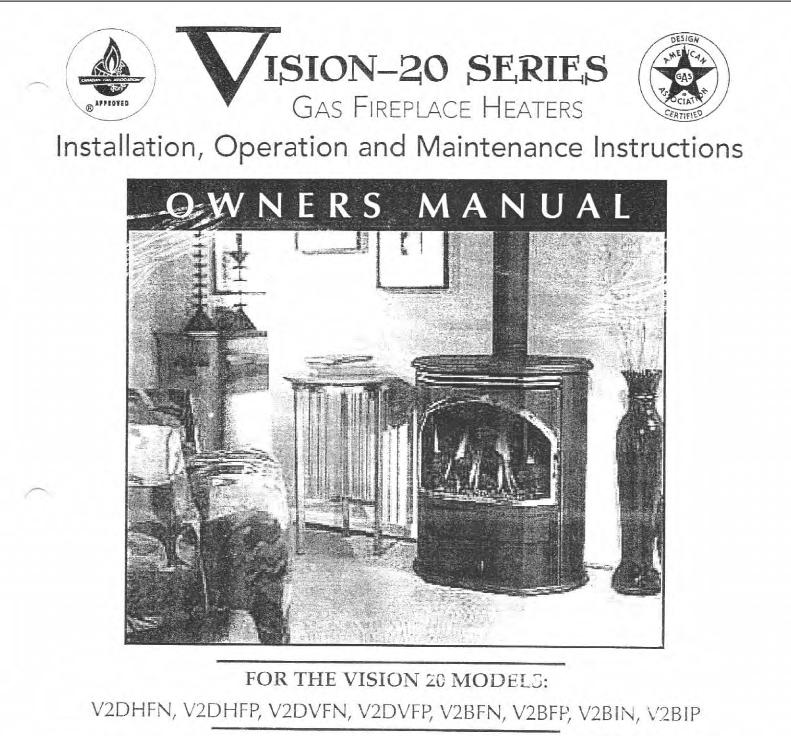 Vision 20 owners manual