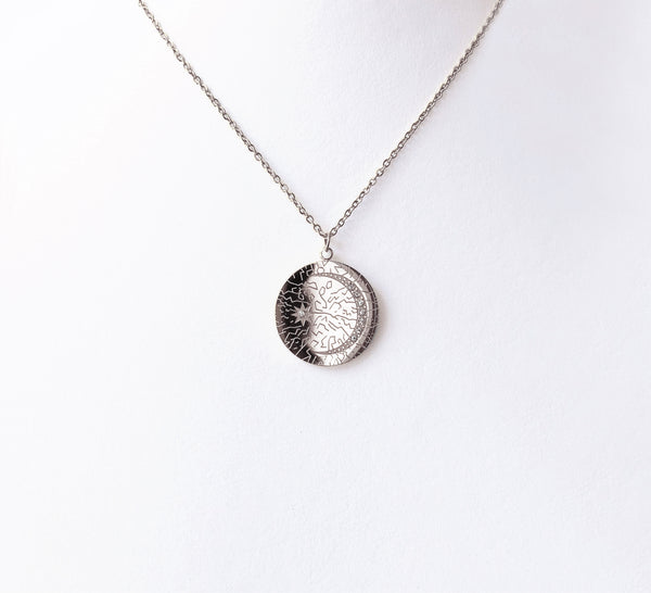 Collar Moneda Constelación Plata