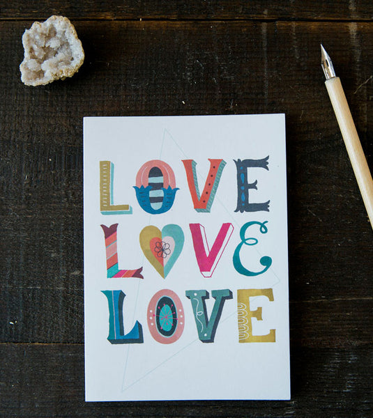 Love Love Love greeting card
