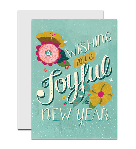 NEW! Joyful New Year greeting card