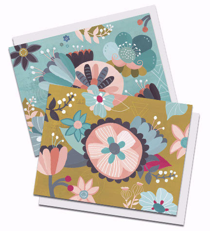 Boxed set of two floral notecards, entitled Jubilation