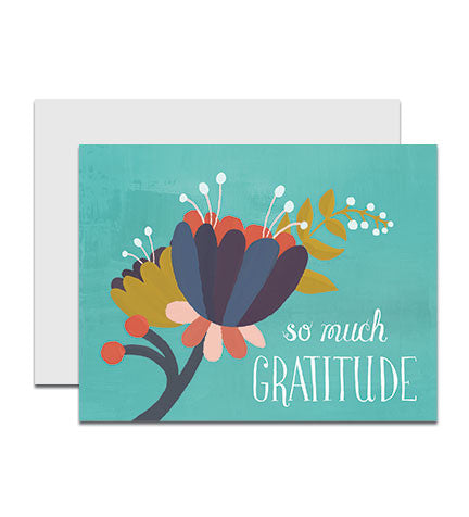 Boxed set of thank you notecards, entitled So Much Gratitude