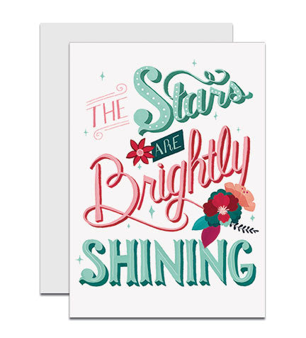 NEW! The Stars are Brightly Shining greeting card