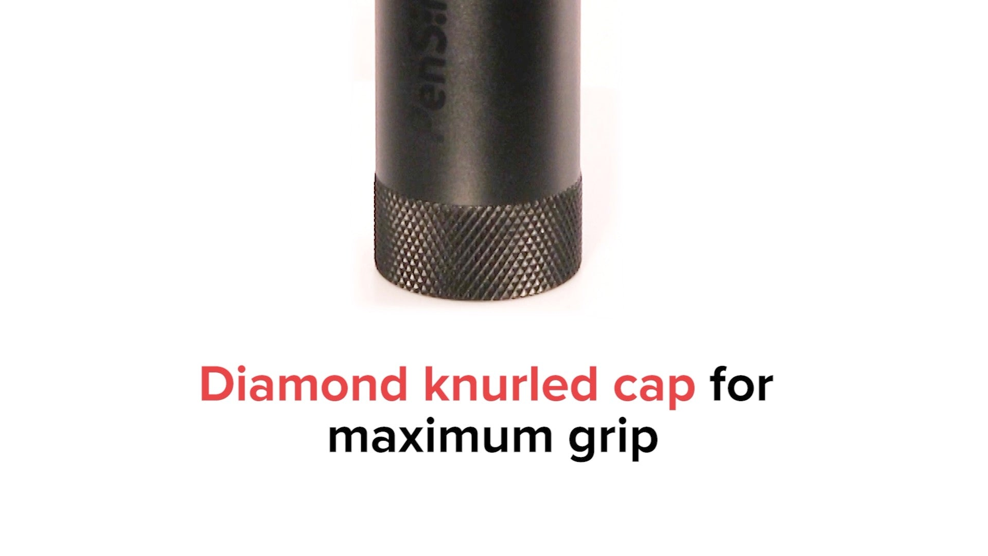 PenSimple Direct Portable Herb Grinder and Dispenser has a diamond knurled cap to allow for superior grip.