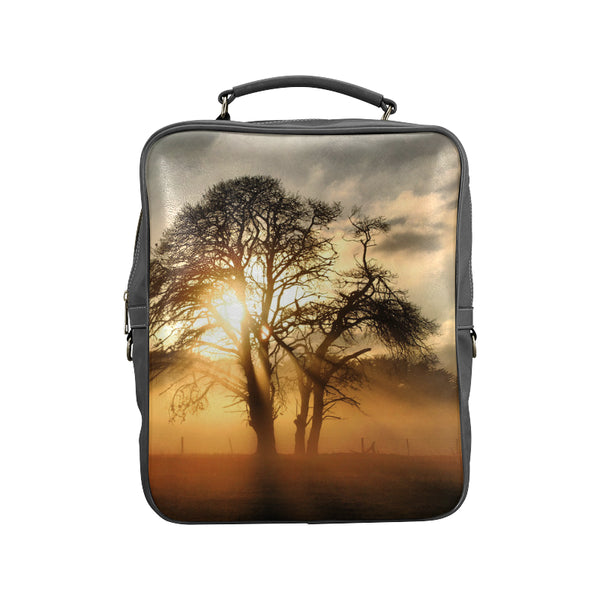 Sunrise in Africa Square Backpack