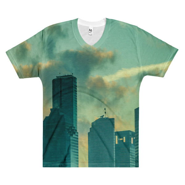 Houston Skyline - Men's V-Neck T-Shirt