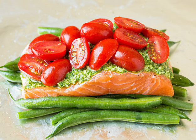 Italian Vegetable Pesto Salmon