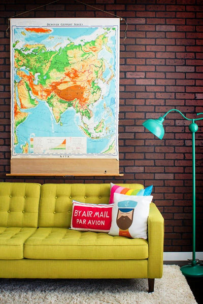 World Map Wall Canvas Art