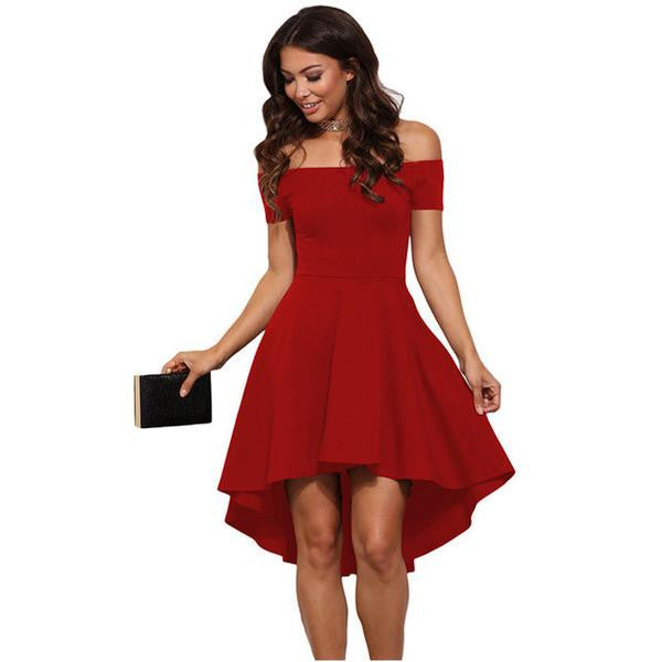 Elegant Fit and Flare Party Dress – Slim Wallet Company