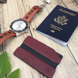 Red Leather Aluminum Metal Wallet - Slim Wallet Company