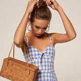 Charming Blue Gingham Dress - Slim Wallet Company