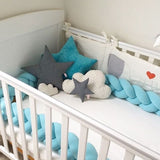 Braided Crib Bumper - Knot Pillow, Knot Cushion - Slim Wallet Company