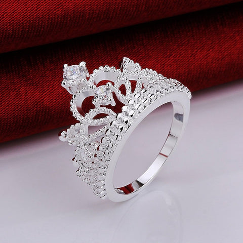 Studded Princess Tiara Ring