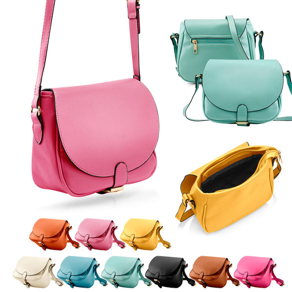 Fashion Women Crossbody Handbag PU Leather Shoulder Bag Tote Purse Ladies Satchel Messenger Hobo Bags - Slim Wallet Company