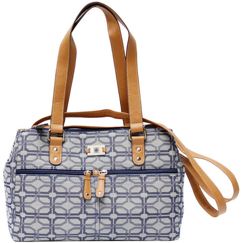 Women's Jacquard Satchel Handbag