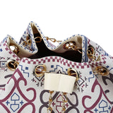 Female Summer Ethnic Boho Canvas Drawstring Bucket Bag Shoulder Handbags Women Messenger Beach Bags - Slim Wallet Company