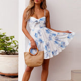 Rosy Ruffle Summer Dress