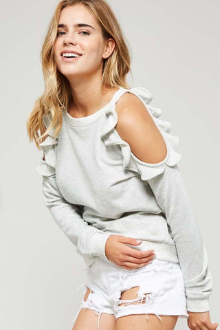 Cozy Ruffled Sweater - Slim Wallet Company