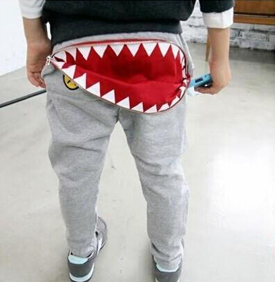 Shark Biting Butt Pants