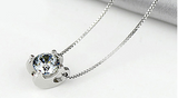 Cubic Zirconia Pendant Silver Plated Necklace - Slim Wallet Company